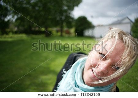 Closeup Of A Female In A Park Lagerfoto 112342199 : Shutterstock
