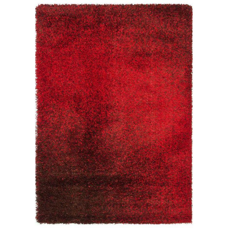 Alexander Home Stella Red/ Brown Shag Rug (7u00277 X 10u00275