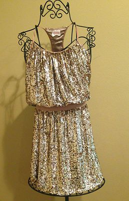 Tamra Barney's Parker Gold Sequin Bachelorette Party Dress Seen on Rhoc XS | eBay IN LOVE!