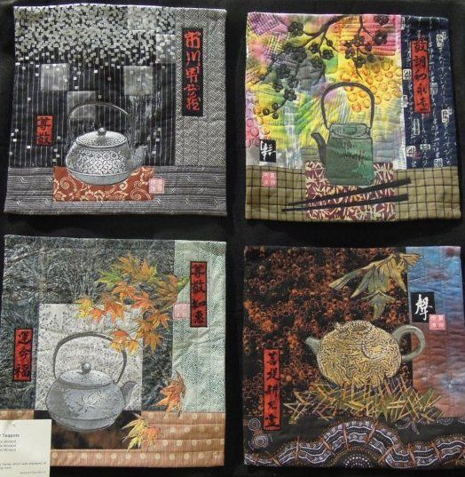 Four Teapots by Linda Morand, 2012 Wine Country quilt show, photo by Quilt Inspiration: