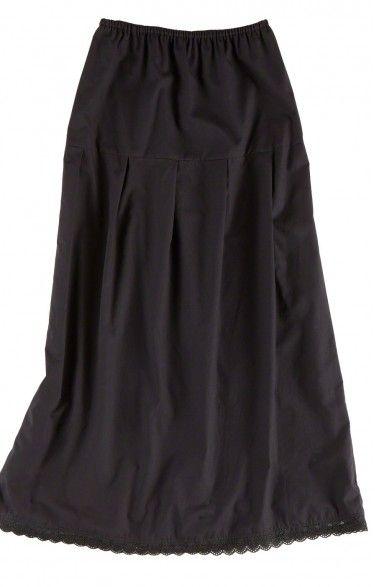 German traditional long underskirt U25 black