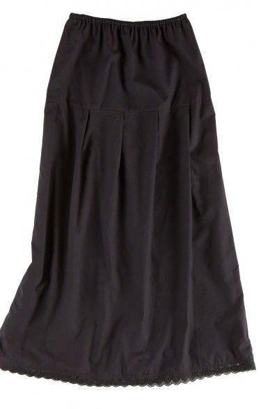 German traditional long underskirt U25 black