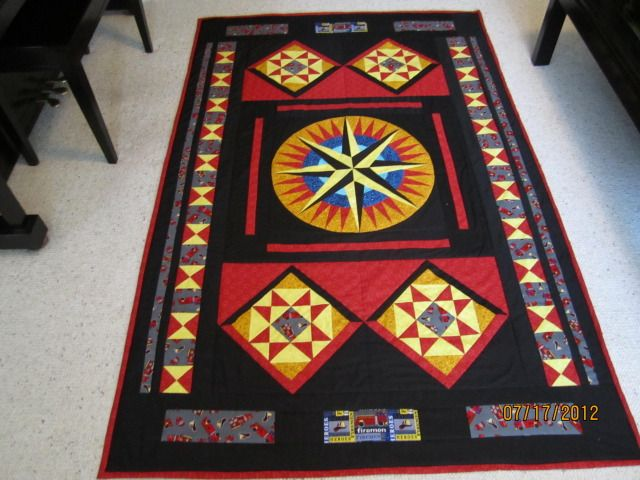 quilt made for a firefighter