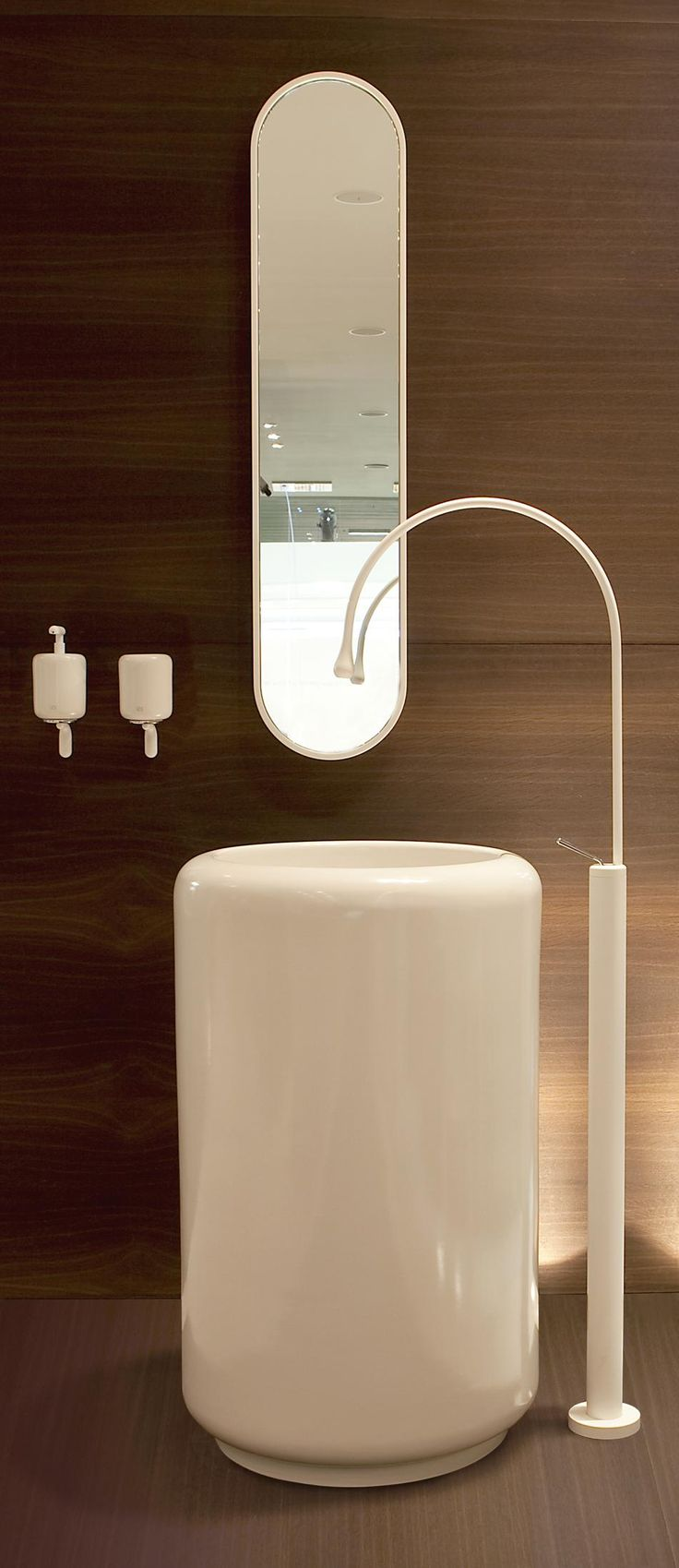 Gessi Goccia Pedestal Sink and Floor-Mount Faucet