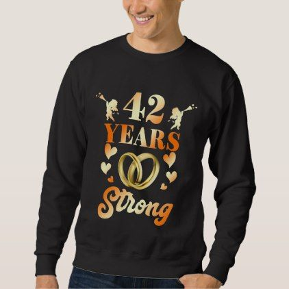 #wedding - #Perfect 42nd Wedding Anniversary Gift For Couple. Sweatshirt