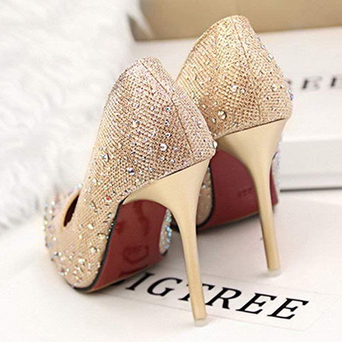 03272f65 Minetom Mujer Primavera Dulce Boda Zapatos de Tacón Elegante Brillante  Rhinestone Zapatos Tacón Alto Zapatos Pumps Stiletto Azul EU 34: Amazon.es:  Ropa y ...