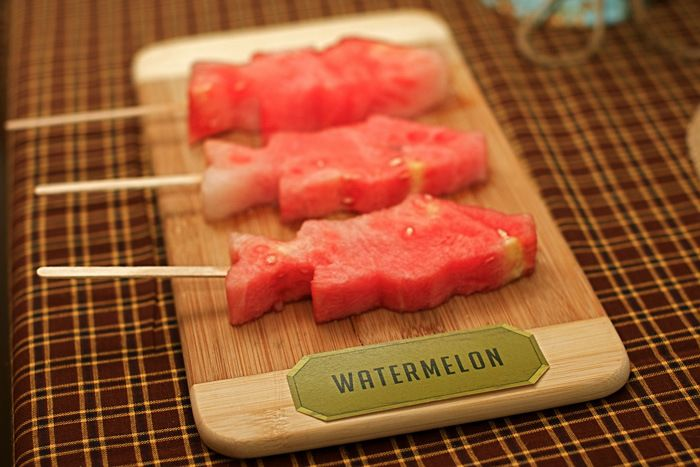 Vintage Fishing Dessert Table - Watermelon Fish Pops