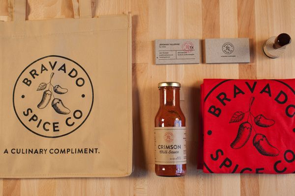 Bravado Spice Co. by Joel Owen Schierloh, via Behance