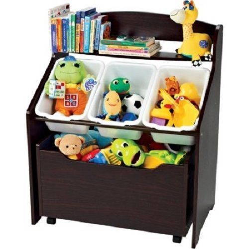 Toy Box With Bookshelf Wooden For Boys Or Chests Girls Football Shelf Bins  Dog