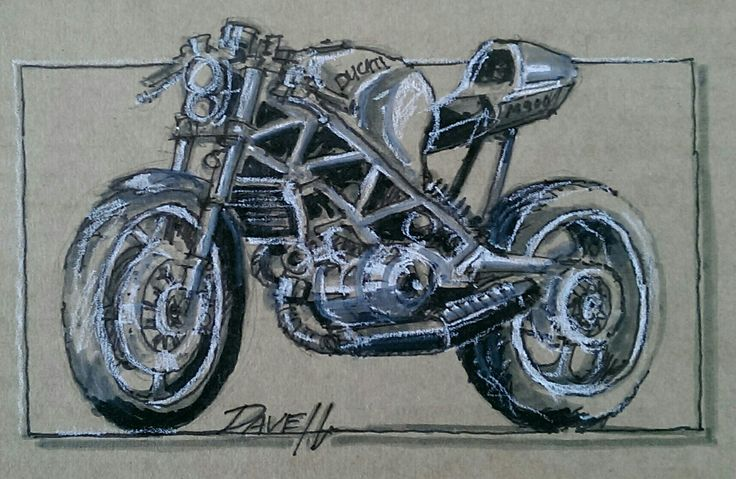 Free hand sketch. Pencil & waterbrush with diluted ink on cardboard.