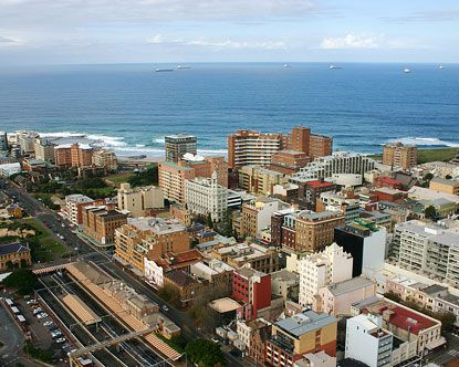 Newcastle, Australia. I was born in the red brick building with the white rows