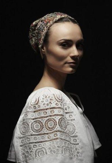 Bonnet from Detva. Slovakia