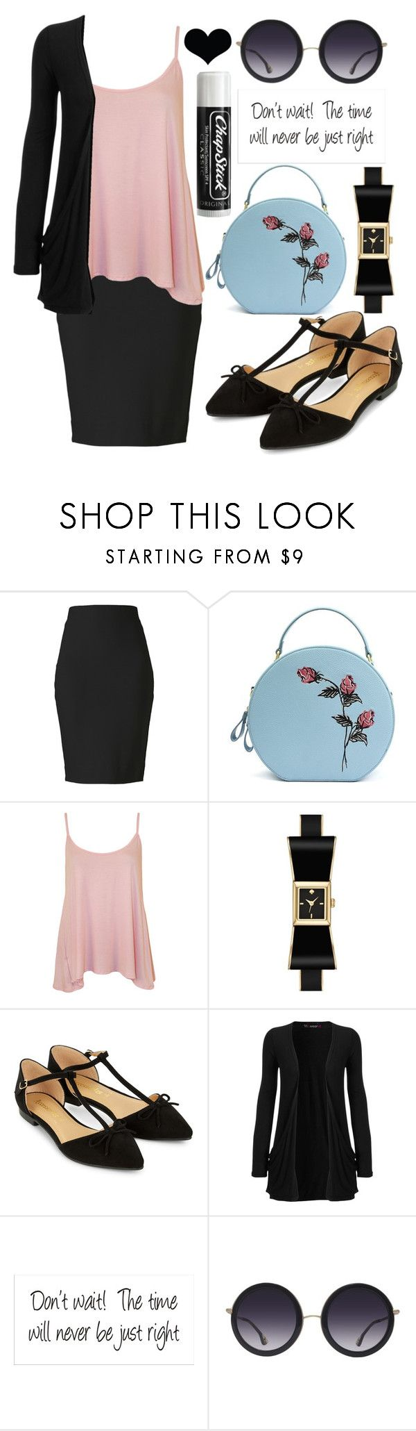 """""""Casual"""" by rhianna-alexandre on Polyvore featuring Winser London, WearAll, Kate Spade, Accessorize, Chapstick, Alice + Olivia and Brika"""