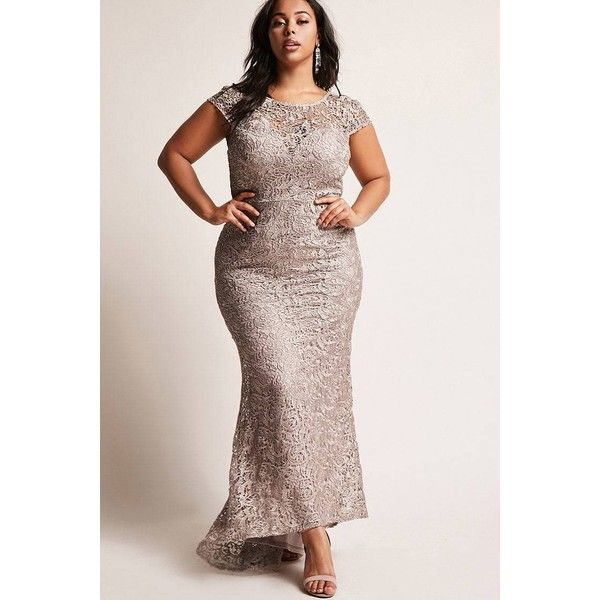 Forever21 Plus Size Crochet Maxi Dress ($78) ❤ liked on Polyvore featuring plus size women's fashion, plus size clothing, plus size dresses, tan, pink crochet dress, sweetheart maxi dresses, maxi dresses, pink maxi dress and crochet dress