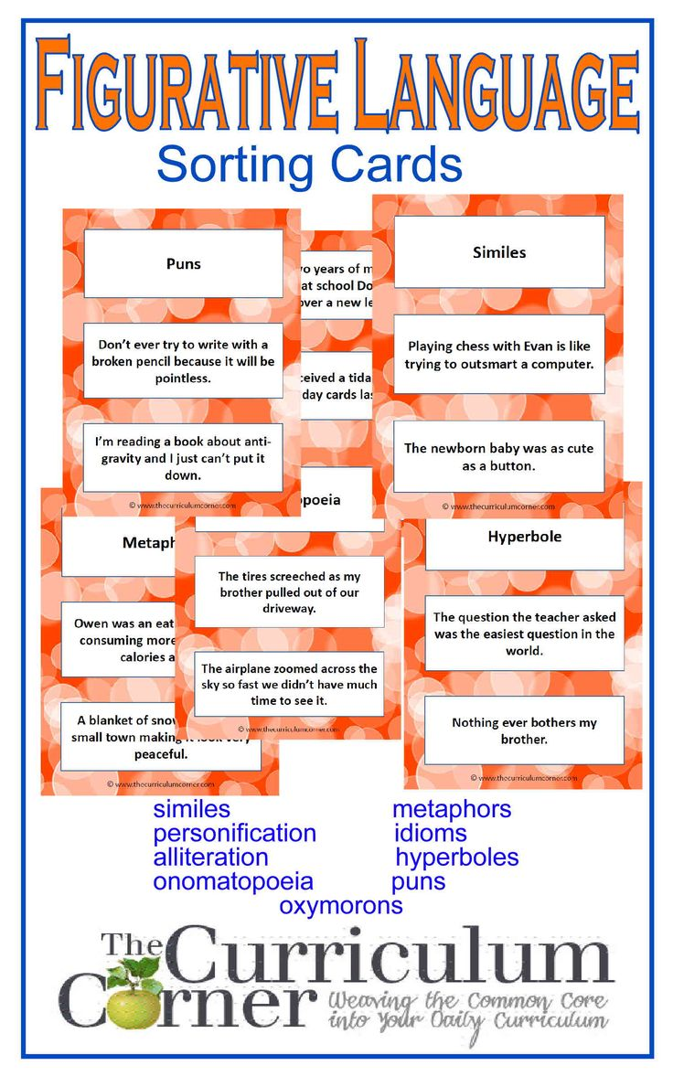 Figurative Language Example Cards