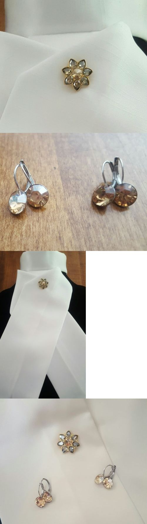English Show Accessories 160041: Full Show Set: Stock Pin Swarovski Otto Schumacher Earrings And German Stocktie -> BUY IT NOW ONLY: $59 on eBay!