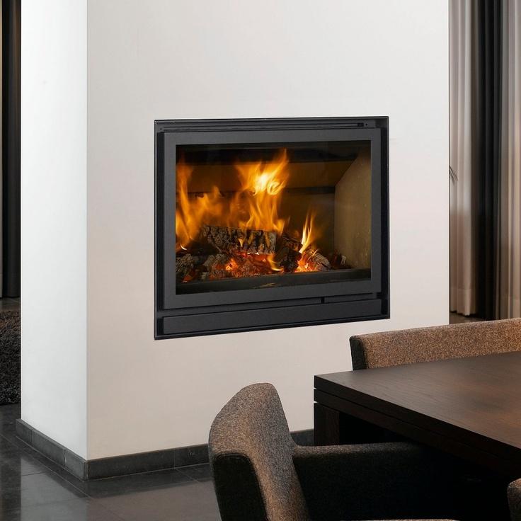 Barbas Cuatro-2 80 built-in woodburning stove.
