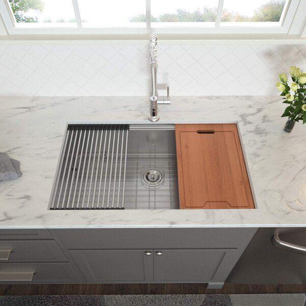 33 X 19 Undermount Kitchen Sink With Basket Strainer Undermount Kitchen Sinks Kitchen Sink Design Sink