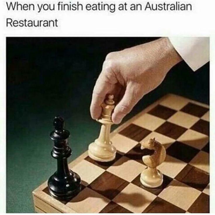 When You Finish Eating At An Australian Restaurant