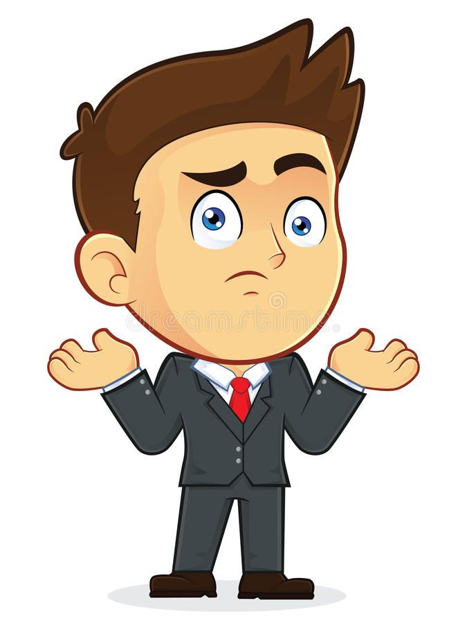Confused Businessman Gesturing Clipart Picture Of A Confused Gesturing Male Bus Sponsored Vector Illustration Character Cartoon Pics Character Illustration