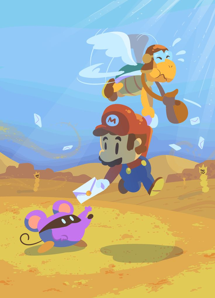 Mario and Parakarry, cool! I love Paper Mario