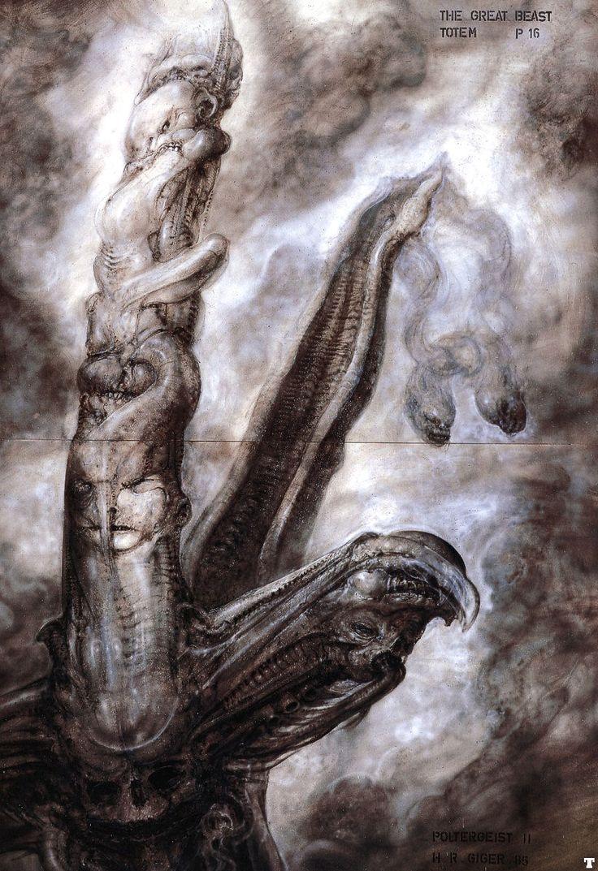 Hans Rüdi Giger: Poltergeist II The Great Beast Totem P16