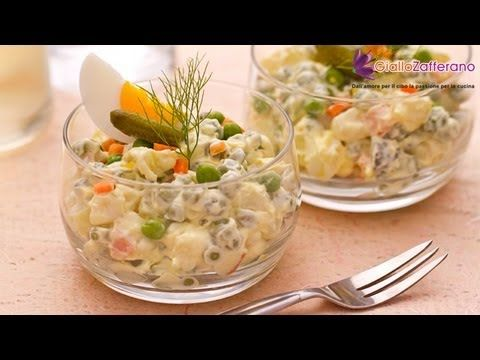 Russian salad ( insalata russa ) recipe,talian vegetable salad served as a side or appetiser