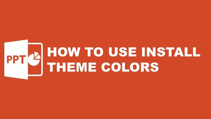 Tutorial Powerpoint Template : How to Install Theme Colors