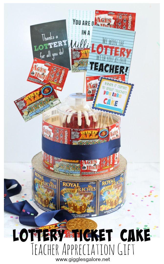 Lottery Ticket Cake Teacher Appreciation Gift | Caffeine ...
