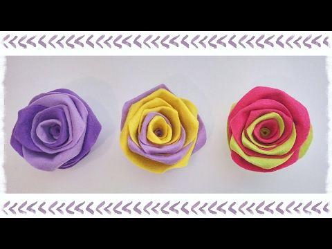 "Rose ""Arcobaleno""  in feltro senza cucire - YouTube"