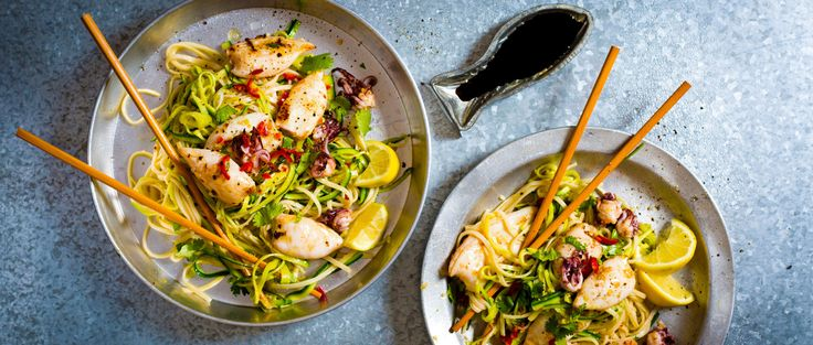 Oriental calamari and noodles http://www.discoveryforme.co.za/good-food/fishing-for-compliments/