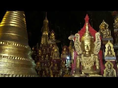 Myanmar- Shwe Oo Min Natural Cave Pagoda in Pindaya. - YouTube