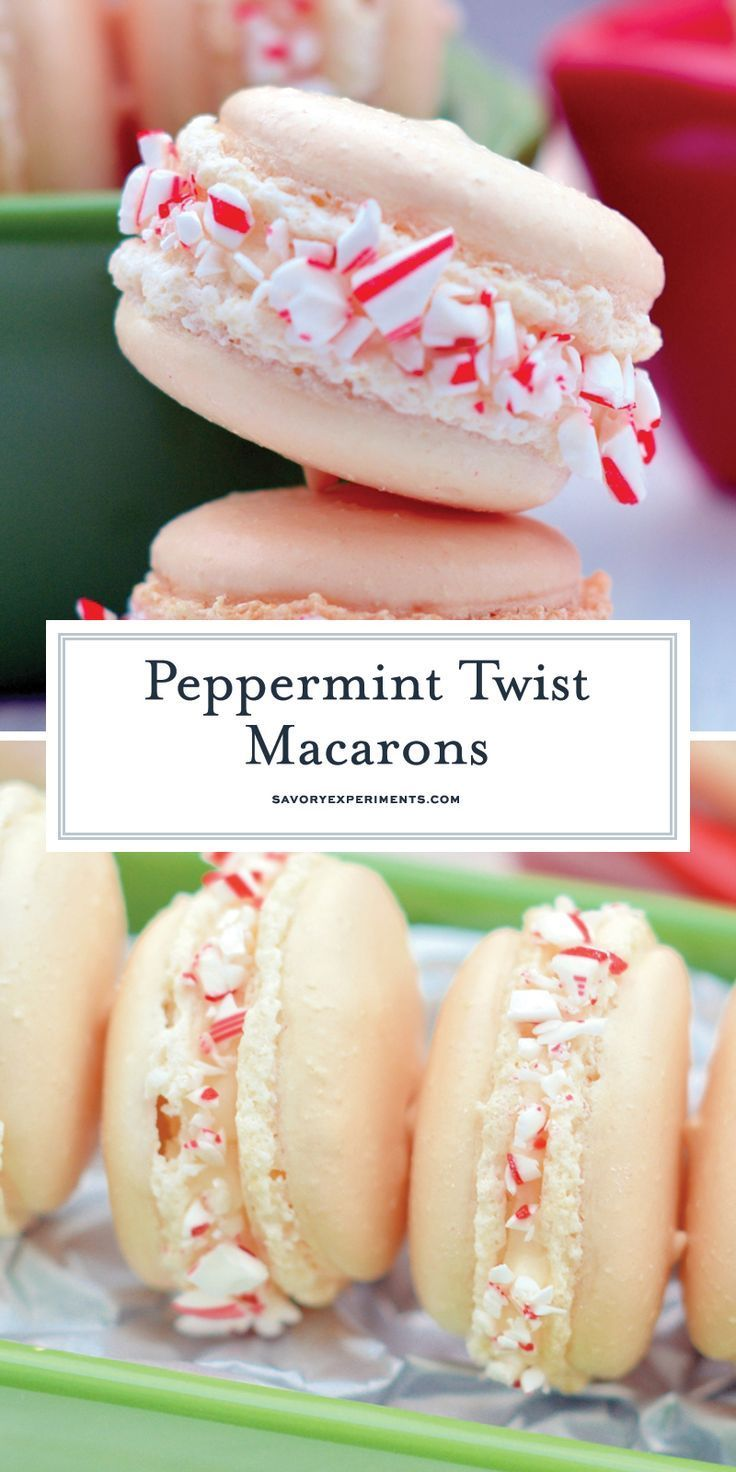 Macron Christmas Cookies Recipes 2020 Peppermint Twist Macarons   A Quick And Easy Macaron Recipe