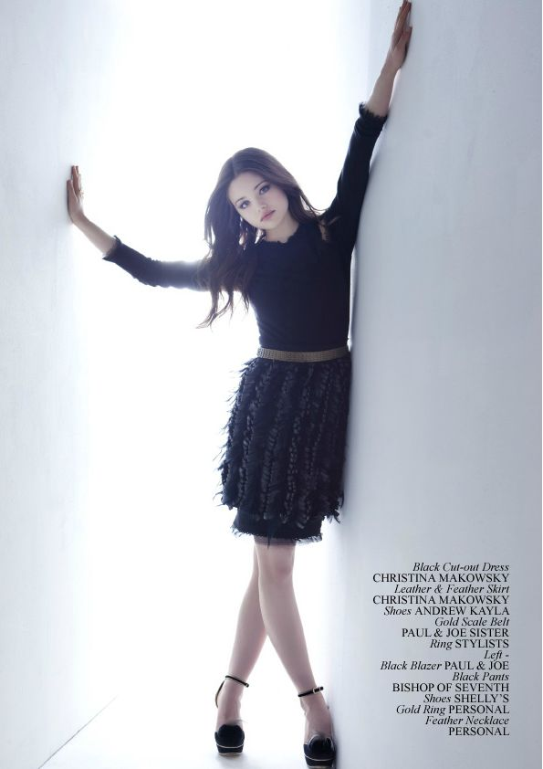 Institute Magazine November 1, 2011 featuring India Eisley in Christina Makowsky