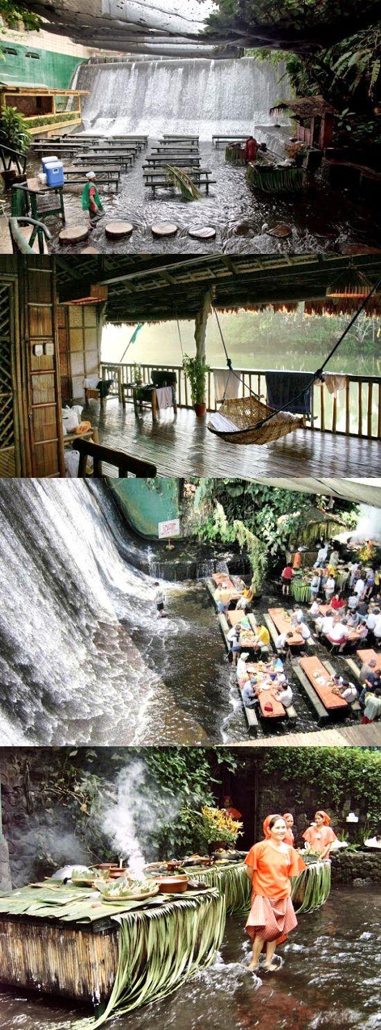 I Love this!!!! Villa Escudero Resort is located in Quezon Province, Philippines