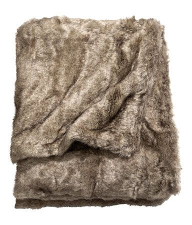 Product Detail | H&M US i have been looking for a fake fur blanket for a while....yippie! lol graduation gift