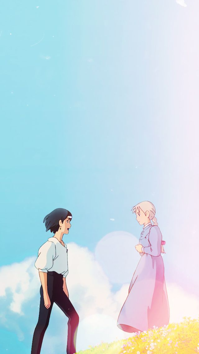 Studio Ghibli Howl's Moving Castle Phone Wallpaper