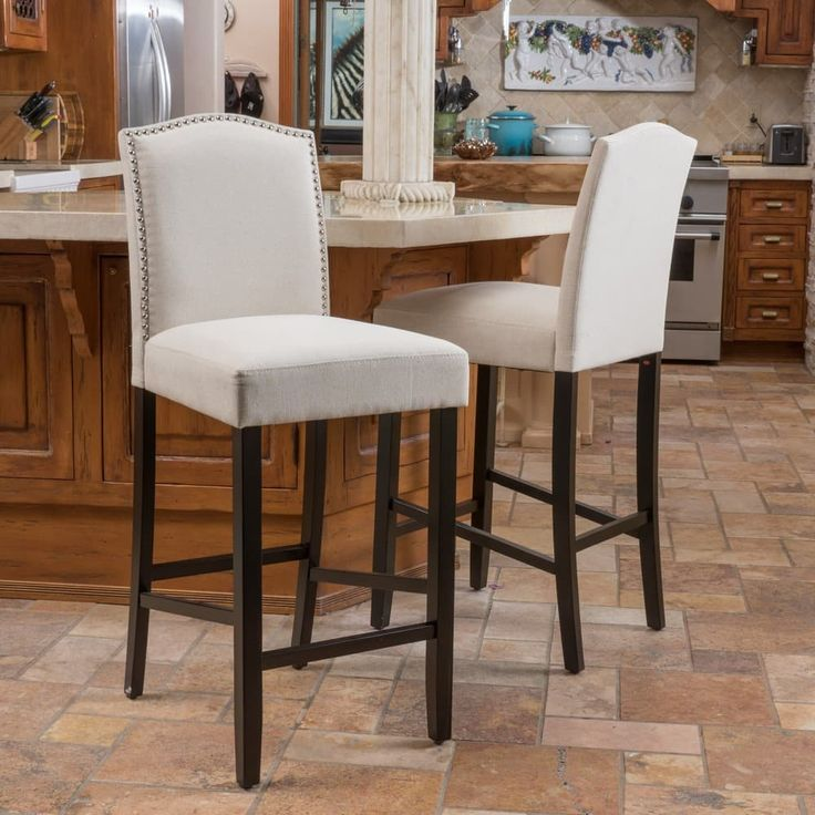 Logan 30-inch Fabric Backed Barstool (Set of 2) by Christopher Knight Home | Overstock.com Shopping - The Best Deals on Bar Stools