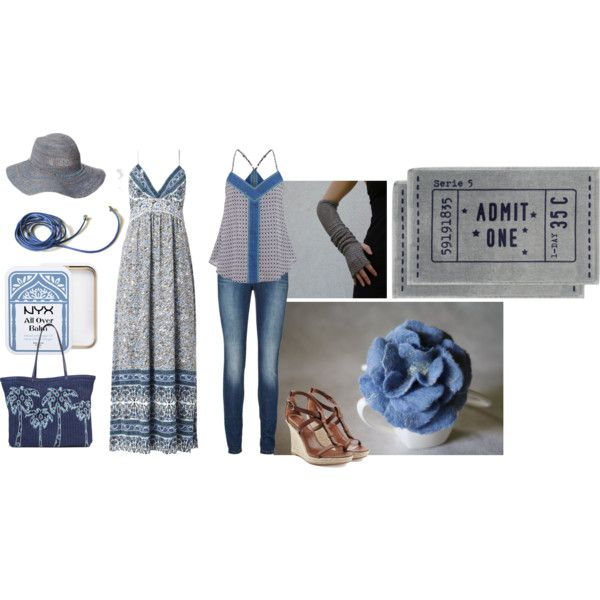 Untitled #99 by anna-suchodolska on Polyvore featuring Rebecca Taylor, maurices, Lipsy, Burberry, Vera Bradley, Scoop, NYX, H&M, Summer and beach