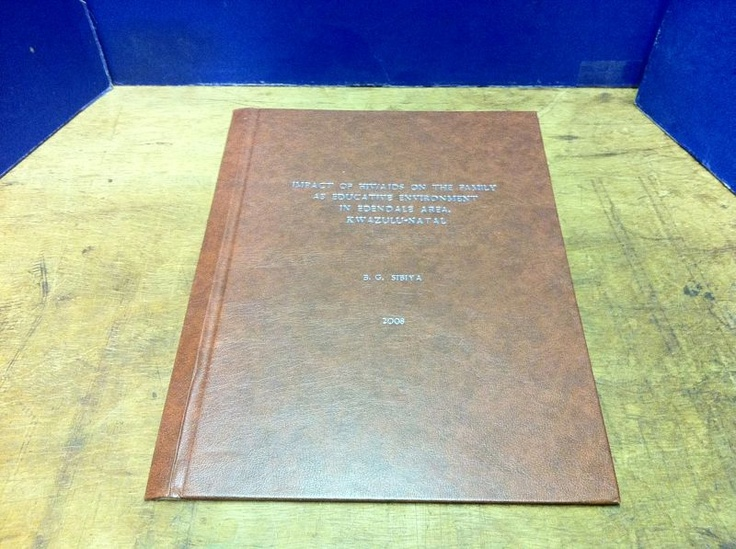 Gloucester green thesis binding