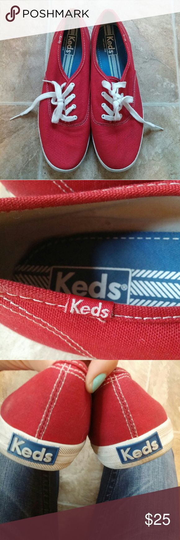 🎉Price Drop🎉Red Keds Sneakers Worn once or twice- great condition Keds Shoes Sneakers
