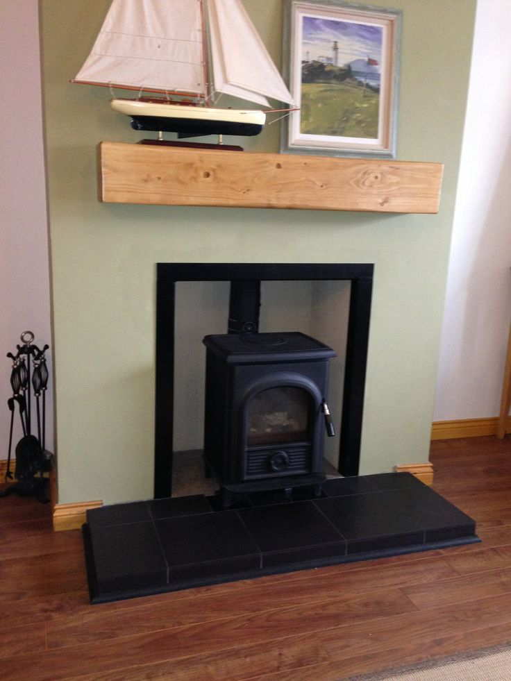 Alpha 1 Multi Fuel Stove and Riven Tiled Hearth