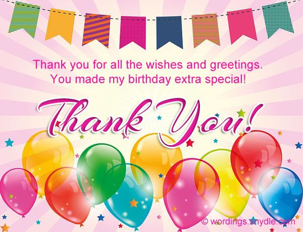 25 Best Ideas About Birthday Thank You Message On Happy Birthday Wishes Thank You