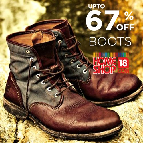 Shop and get discount upto 67% on fashion boots for men's at homeshop18.  Buy: http://www.grabon.in/coupon-codes/?cid=2586