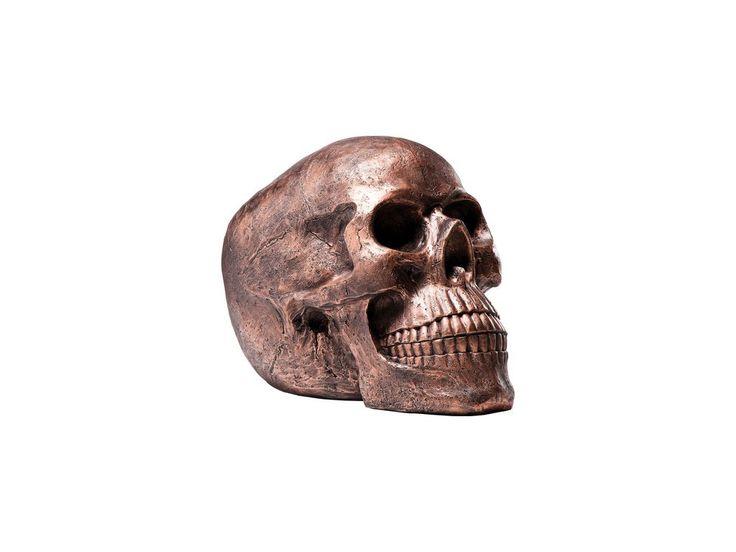 Figurka Dekoracyjna Skull Head miedziana — Figurki dekoracyjne — KARE® Design