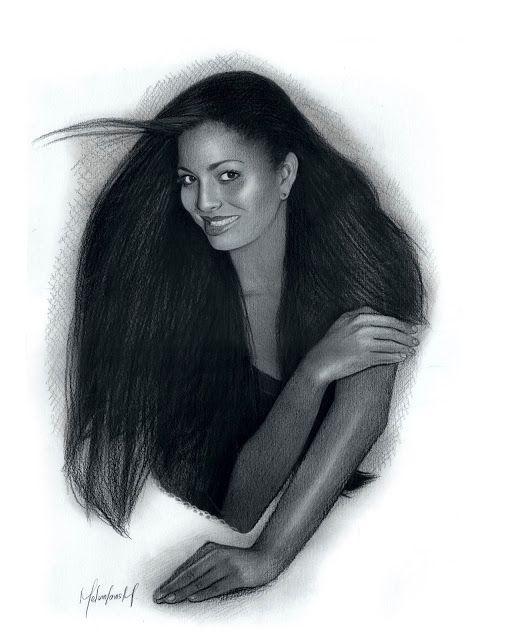 "Melvin Lans dibujos y pinturas: ""Morena bonita"""