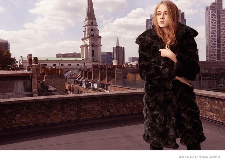Game of Thrones Sophie Turner Stars in Karen Millen Fall 2014 Campaign