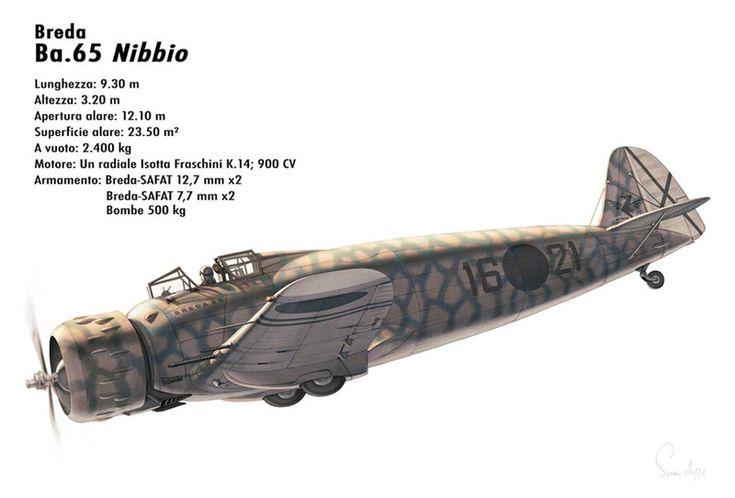"""Breda Ba.65 """"Nibbio"""" - """"16-21"""" Aviazione Spagnola Nazionale, guerra di Spagna, 1936."""