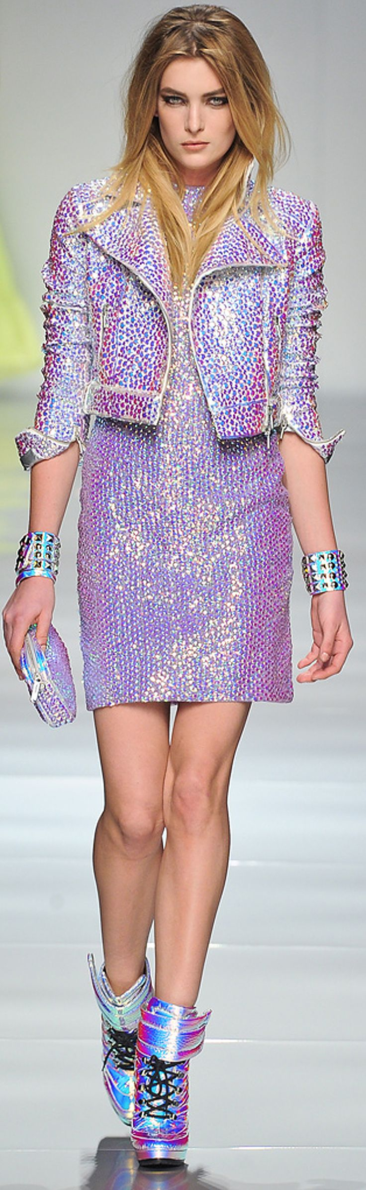 ~Blumarine Spring 2013 | The House of Beccaria#..sparkly..she looks a little pissed though..lol