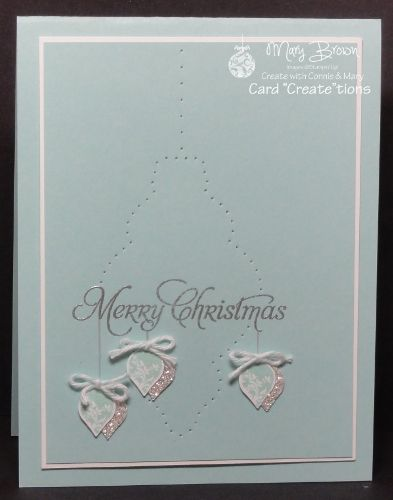 SU! Merry Minis and More Merry Messages (sentiment) stamp sets; Whisper White, Pool Party and Silver Glimmer paper; Festive Paper Piercing pack - Mary Brown